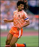 Ruud Gullit in action for Holland