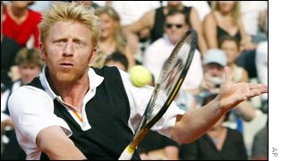 Boris Becker at Weissenhof tennis club in Stuttgart