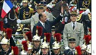 President Chirac at Bastille Day parade