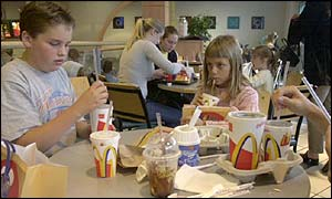 Children in McDonalds