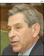 Deputy Secretary of Defence Paul Wolfowitz