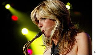 Dutch saxophonist Candy Dulfer