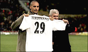 Ferdinand became the most expensive defender in the world when Leeds Utd shelled out �18m to buy him from West Ham
