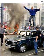 Russians rioting