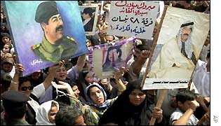 Support for Saddam Hussein in Baghdad