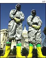 Guards prepared for anthrax attack