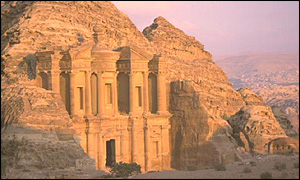 The Great Temple at Petra in Jordan