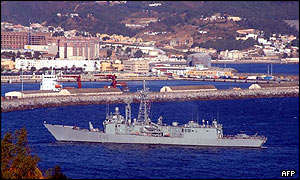 Spanish warship of Ceuta