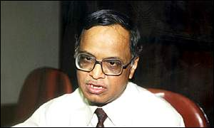 Founder and Chairman of Infosys, Narayan Murthy