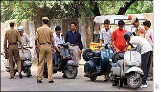 Police search scooter drivers in Jammu