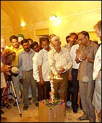 Dignitaries inaugurating the restored wing