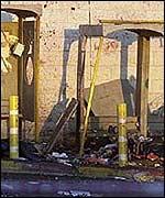 Escena de la explosión.