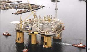 Natural gas platform, Norway