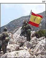 Spanish troops on Perejil