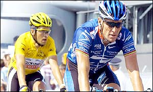 Igor Gonzalez de Galdeano (left) and Lance Armstrong will be among the top riders in the mountains