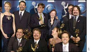 The cast and crew of The West Wing