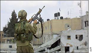 Israeli soldier in Ramallah