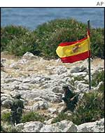 Spanish flag on Perejil