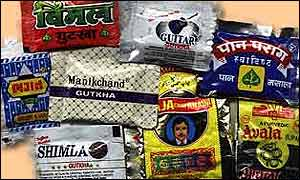 Various brands of chewing tobaccos