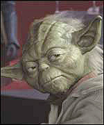 Yoda from the film Star Wars: Episode II