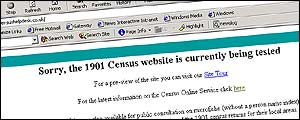 Census website, starting to work again
