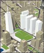 One of the designs for redeveloping the World Trade Center