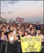 Part of the crowd at the Brighton Beach gig