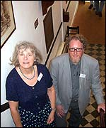 Thelma Grove and Dr Tony Williams at the Dickens House