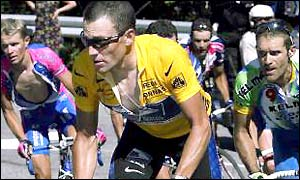 Lance Armstrong in action on stage 12