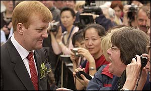 Charles Kennedy meets the crowds