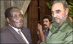 Robert Mugabe and Fidel Castro