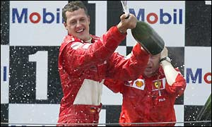Schumacher revels in sealing his fifth world title