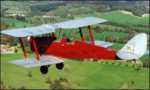 A Tiger Moth like this one crashed