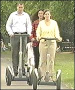 The Segway gets a test ride in the park