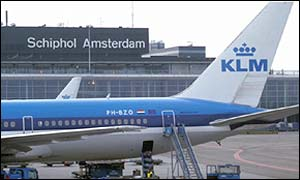 KLM plane at Amsterdam airport
