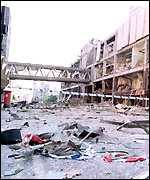 The devastation in the city centre after the bombing