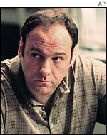 Actor James Gandolfini who plays Tony Soprano