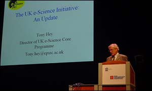 Tony Hey director of the Uk's core e-science program
