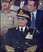 Gaddafi in uniform