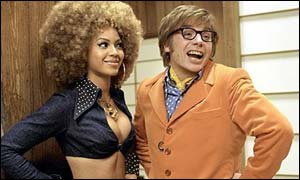 Beyonce Knowles and Mike Myers