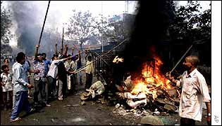 Rioters in Gujarat