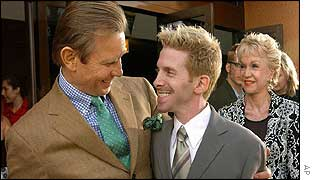 Michael York (left) with Seth Green