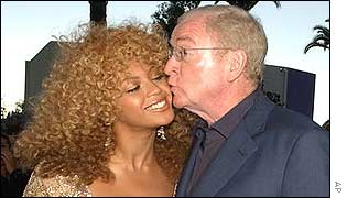 Beyonce Knowles with Michael Caine
