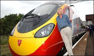 Richard Branson and a Pendolino train