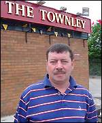 Tony Carroll, outside The Townley pub