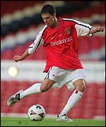 Jeremie Aliadiere in action for the Arsenal youth side