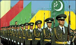Troops in Turkmenistan at an independence day celebration
