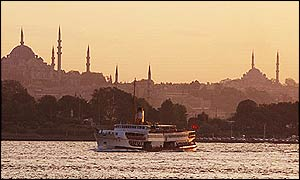 The Turkish city of Istanbul straddles the border between Europe and Asia