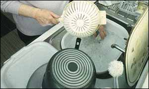 A typical washing-up scene, BBC