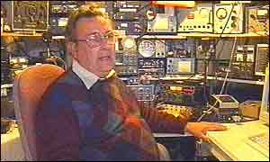 Dave Rowan in his shed